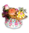 L'île aux fleurs - Gros gâteaux aux fleurs des îles en bonbons
