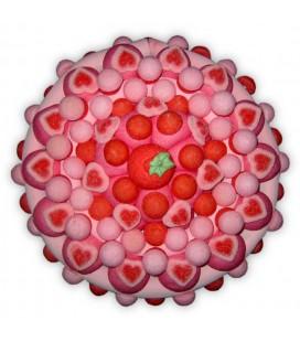 la vie en rose- gâteau aux fraises tagada