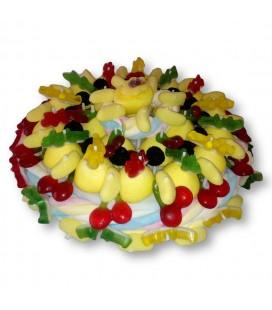 Guimauve bananes cerises - Gâteau de bonbons