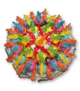 La valse des crocodiles - Grand gâteau de bonbons