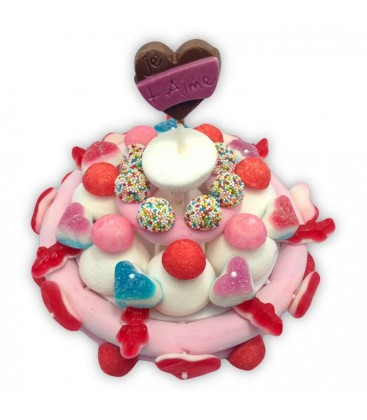 Le Petit gâteau d'amour en bonbons
