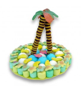 une île aux bonbons , gâteau de Robinson Crusoé