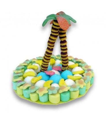 une île aux bonbons - gâteau de Robinson Crusoé
