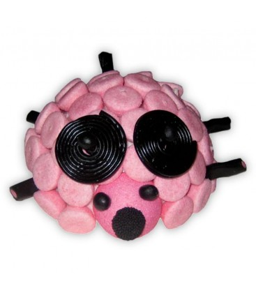 La souris Rose - composition 3D de bonbons
