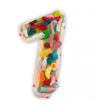 Le chiffre 1 en composition de bonbons