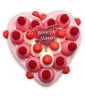 Cœur en bonbon fêtes des mamans
