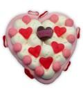 Un cœur pour dire je t'aime - Gâteau de bonbons