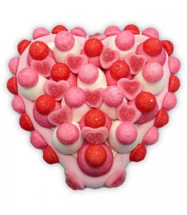 Cœur en bonbons guimauves
