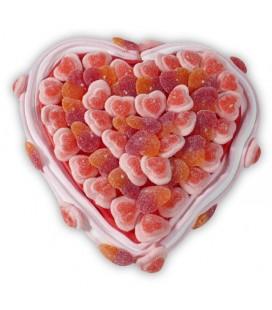 Cœur pêche fraise - Composition de bonbons