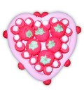 Cœur en fraises - Composition de bonbons