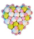 Cœur Pastel - composition de bonbons