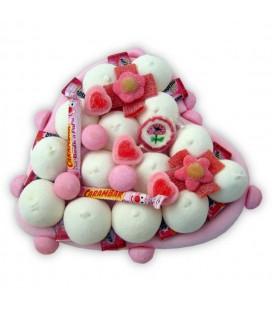 Cœur Carambars Malabars - composition de bonbons