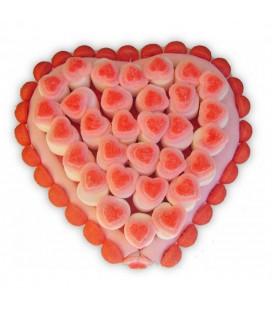 Cœur rose tout en bonbons