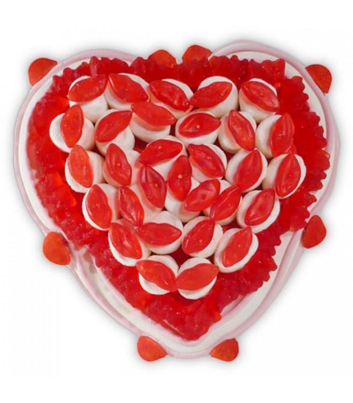 Cœur Bisous Composition De Bonbons Cœurs En Bonbons