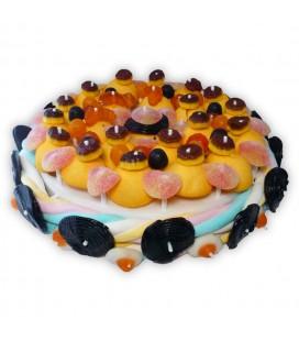 Le grand gâteau d'Halloween, gâteau de bonbons