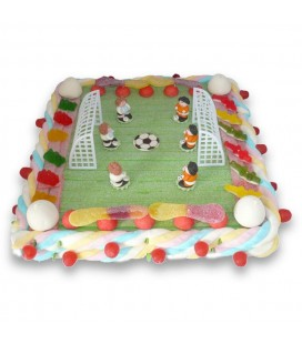 Stade de foot en bonbons