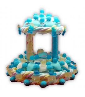 Rêve bleu - pièce montée de bonbons