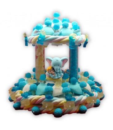 Rêve bleu plus -Pièce montée de bonbons