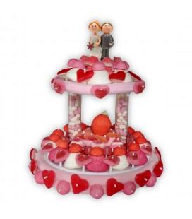 Pièce montée mariage en bonbons
