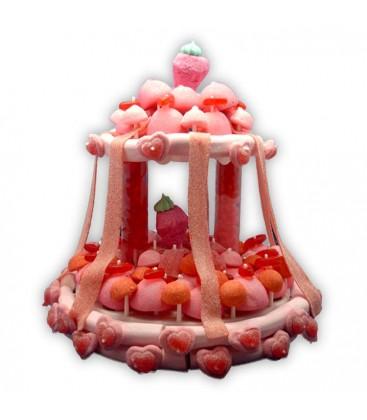 Le Baldaquin des princesses-Pièce montée de bonbons