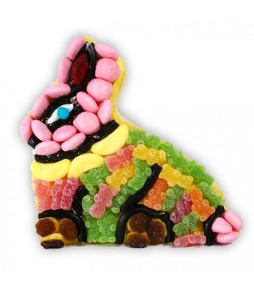 Petit lapin de pâques - composition de bonbons