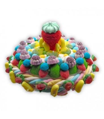 Salade de Fruits -Gros gâteau de bonbons aux fruits