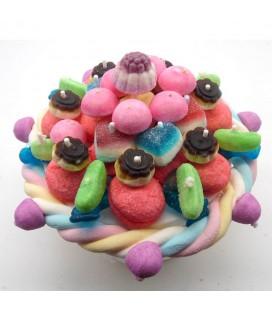 Le petit gâteau de bonbons Haribo