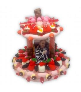Pièce montée Margot en bonbons personnalisée