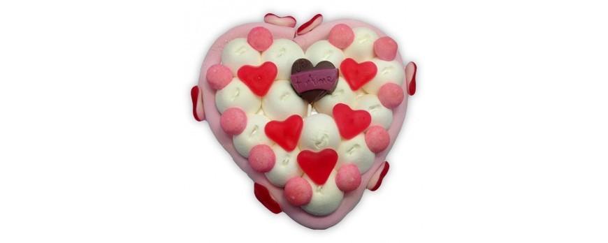 Offrir un cœur en bonbons pour la Saint-Valentin