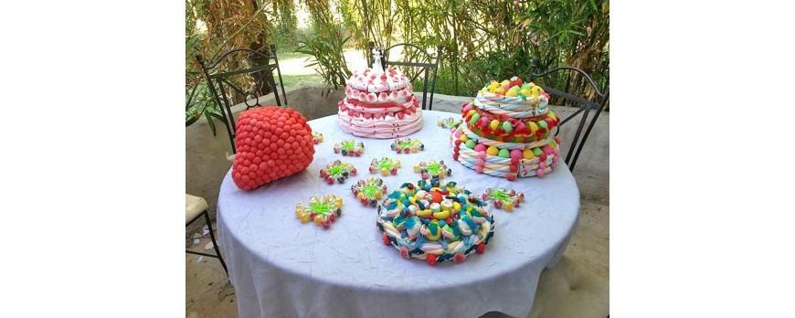 Une pièce montée en bonbons pour un magnifique mariage
